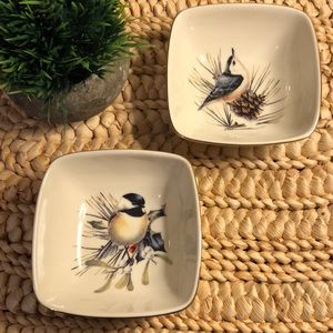 Lenox Bird Bowls Winter Greetings